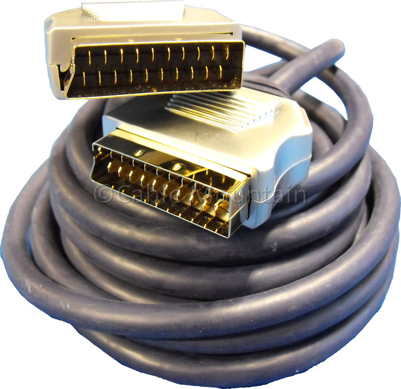 Metal Plug 24k Gold OFC Scart Cable