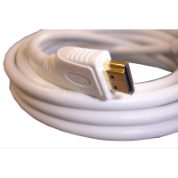 White Gold Plated HDMI Cable