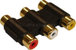 Gold Plated Triple 3x RCA Phono Coupler