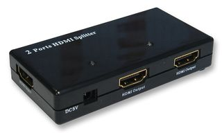 2 Port Powered HDMI Splitter - Display one HDMI signal across two displays