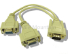 SVGA ~ VGA 1 to 2 Way Splitter Y Cable