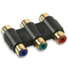 Gold Plated Triple RGB RCA YPbPr Coupler