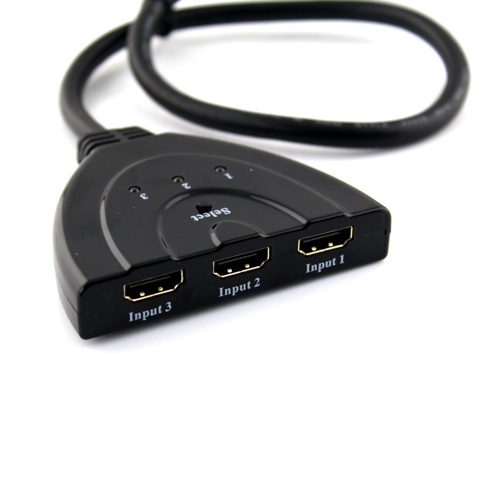 3 into 1 Automatic and Manual HDMI Switcher Cable