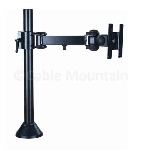 Vertical TFT TV Monitor Desk Arm - Bolt or screw Down in Black