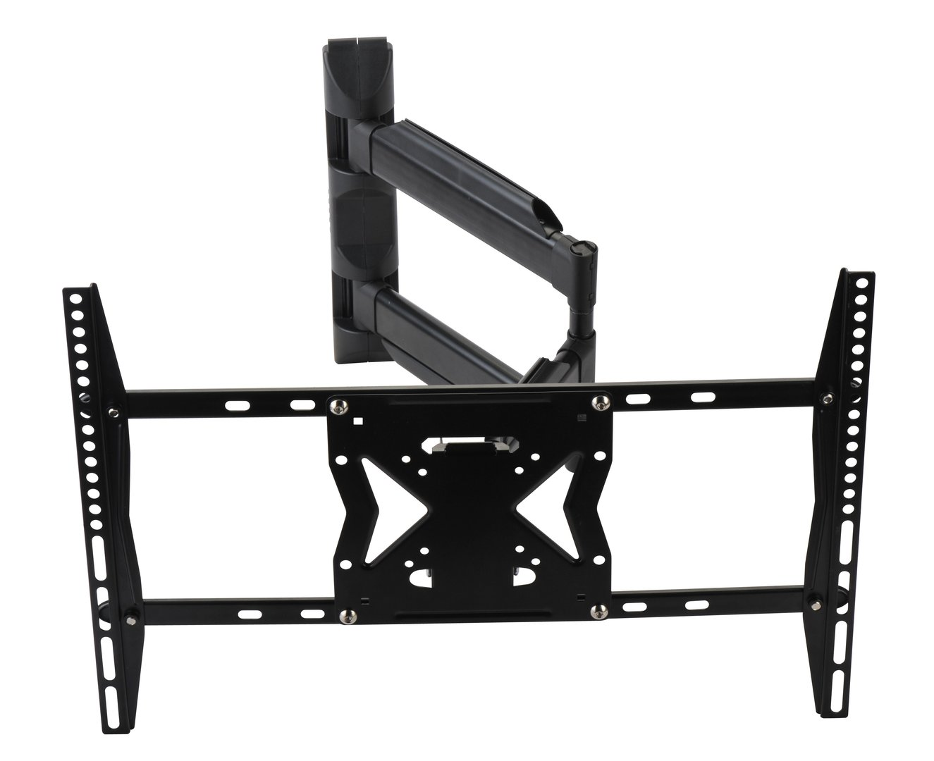 Large Ultra Slim Black LED/LCD Double Arm Swivel & Tilt TV Wall Bracket